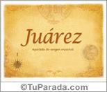 Origen y significado de Juárez
