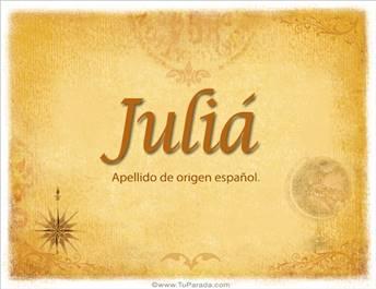 Origen y significado de Juliá