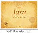 Origen y significado de Jara