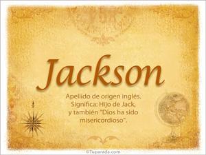 Origen y significado de Jackson