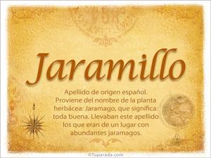 Origen y significado de Jaramillo