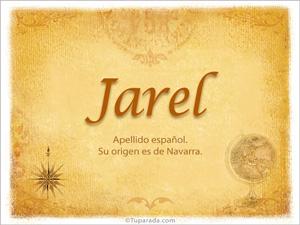 Origen y significado de Jarel