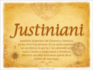 Origen y significado de Justiniani