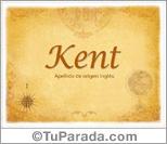 Origen y significado de Kent