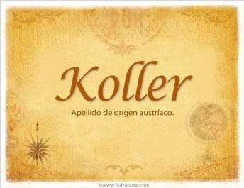 Origen y significado de Koller