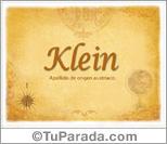 Origen y significado de Klein