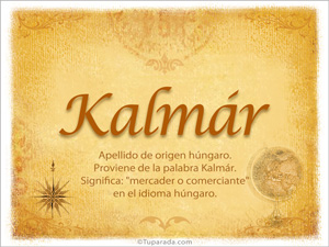 Origen y significado de Kalmár