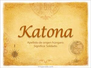 Origen y significado de Katona