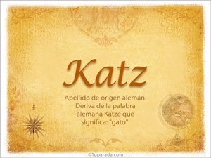Origen y significado de Katz