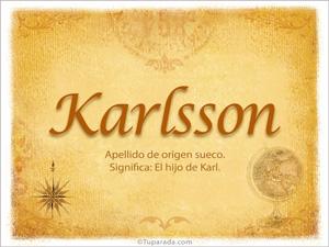 Origen y significado de Karlsson