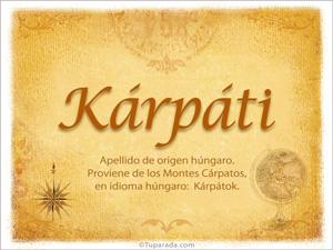 Origen y significado de Kárpáti