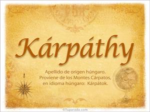 Origen y significado de Kárpáthy