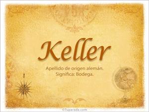 Origen y significado de Keller