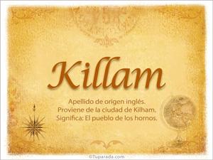 Origen y significado de Killam
