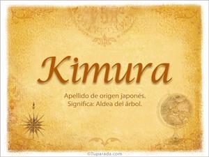 Origen y significado de Kimura