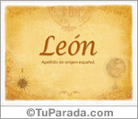 Origen y significado de León