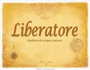 Origen y significado de Liberatore