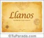 Origen y significado de Llanos