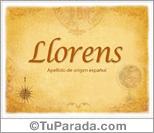 Origen y significado de Llorens