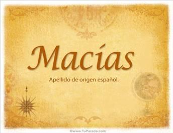 Origen y significado de Macías