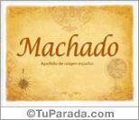 Origen y significado de Machado