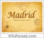 Origen y significado de Madrid