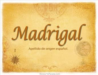 Origen y significado de Madrigal