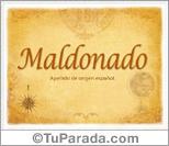Origen y significado de Maldonado