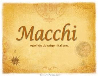 Origen y significado de Macchi