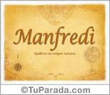 Origen y significado de Manfredi