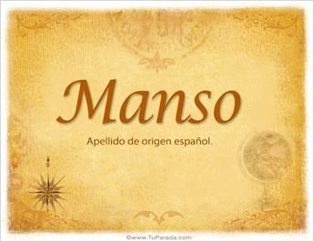 Origen y significado de Manso