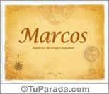 Origen y significado de Marcos