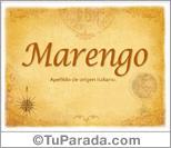 Origen y significado de Marengo