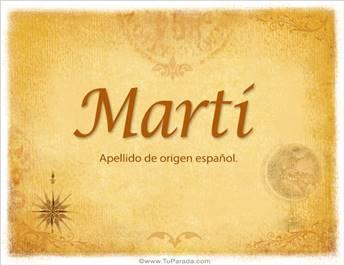 Origen y significado de Martí