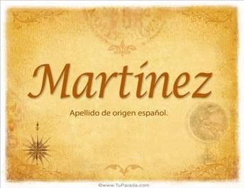 Origen y significado de Martínez