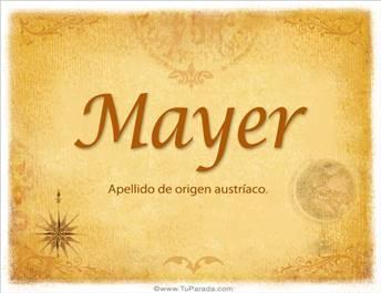 Origen y significado de Mayer