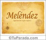 Origen y significado de Meléndez