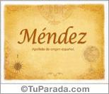 Origen y significado de Méndez