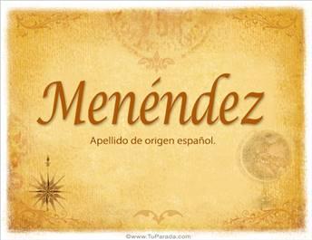 Origen y significado de Menéndez