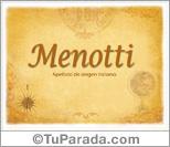 Origen y significado de Menotti