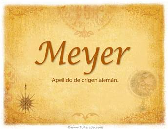 Origen y significado de Meyer