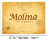 Origen y significado de Molina
