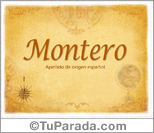 Origen y significado de Montero