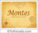 Origen y significado de Montes