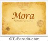 Origen y significado de Mora