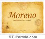Origen y significado de Moreno