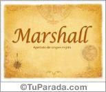 Origen y significado de Marshall