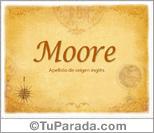Origen y significado de Moore