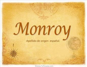 Origen y significado de Monroy