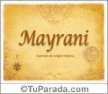 Origen y significado de Mayrani